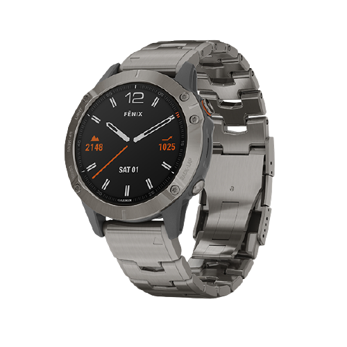 Garmin fēnix 6 Sapphrie Titanium with Vented Titanium Bracelet Part Number 010-02158-85