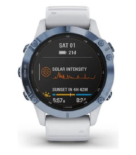 Garmin fēnix® 6 - Cobalt Blue with Whitestone Band