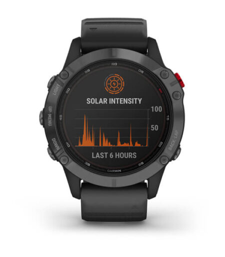 Garmin fēnix® 6 - Pro Solar Black with Slate Gray Band