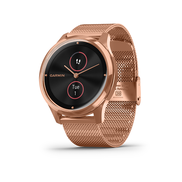 Vivomove Luxe Rose Gold with Milanese Part Number 010-02241-84