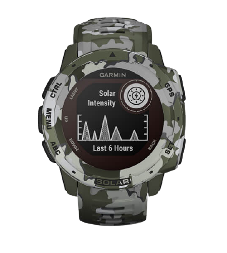 Garmin Instinct® Solar – Camo Edition(Lichen Camo) Part Number  010-02293-56