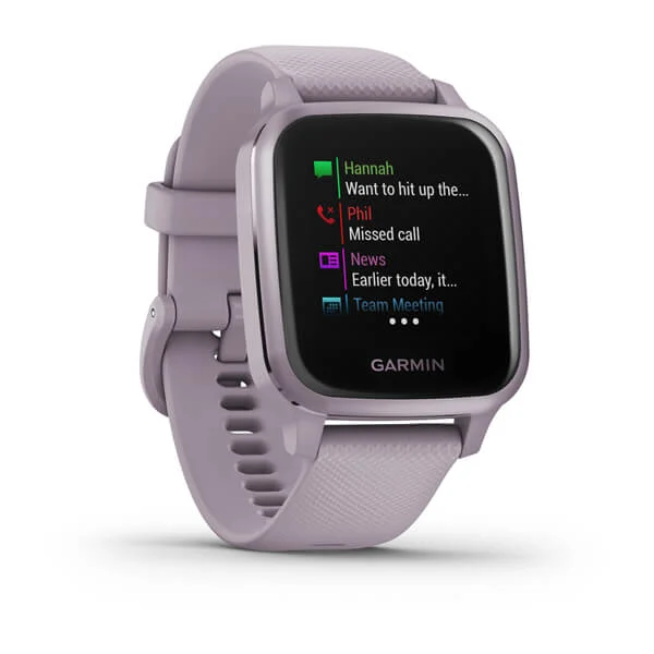 Garmin Venu® Sq Part Number 010-02427-82 (Metallic Orchid Aluminum Bezel with Orchid Case and Silicone Band)