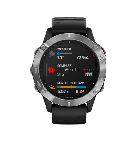 Garmin fēnix 6 DLC Silver with Black Band