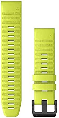Garmin watch Band QuickFit 22mm Yellow Strap  Part Nummber-010-12496-07