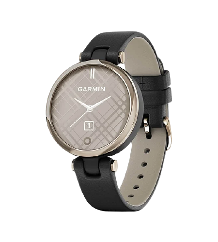 Garmin Lily CreamGold, Black, Leather Part Number-010-02384-F1