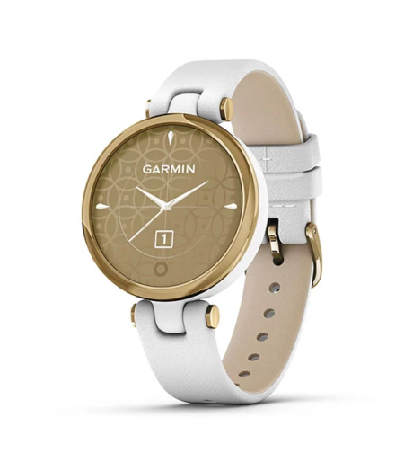 Garmin Lily LightGold, White, Leather