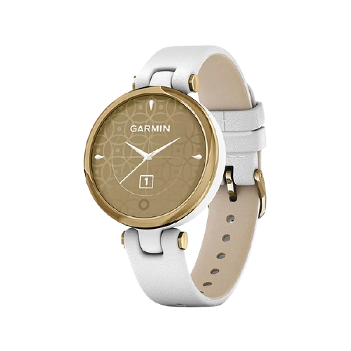 Garmin Lily LightGold, White, Leather Part Number-010-02384-F3