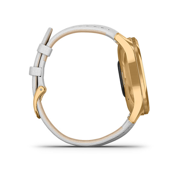 Garmin vívomove Luxe Gold-white, Leather Part Number-010-02241-88