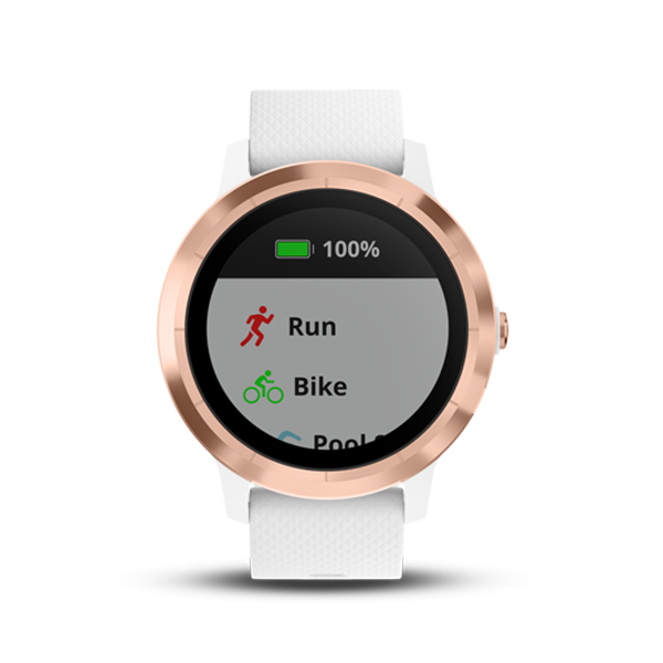 Garmin vívoactive® 3 White With Rose GoldPart Number 010-01769-A3