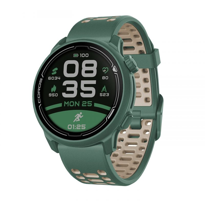 Coros PACE 2 Speed Series  Premium GPS Sport Watch Green - Silicone Strap WPACE2-GRN