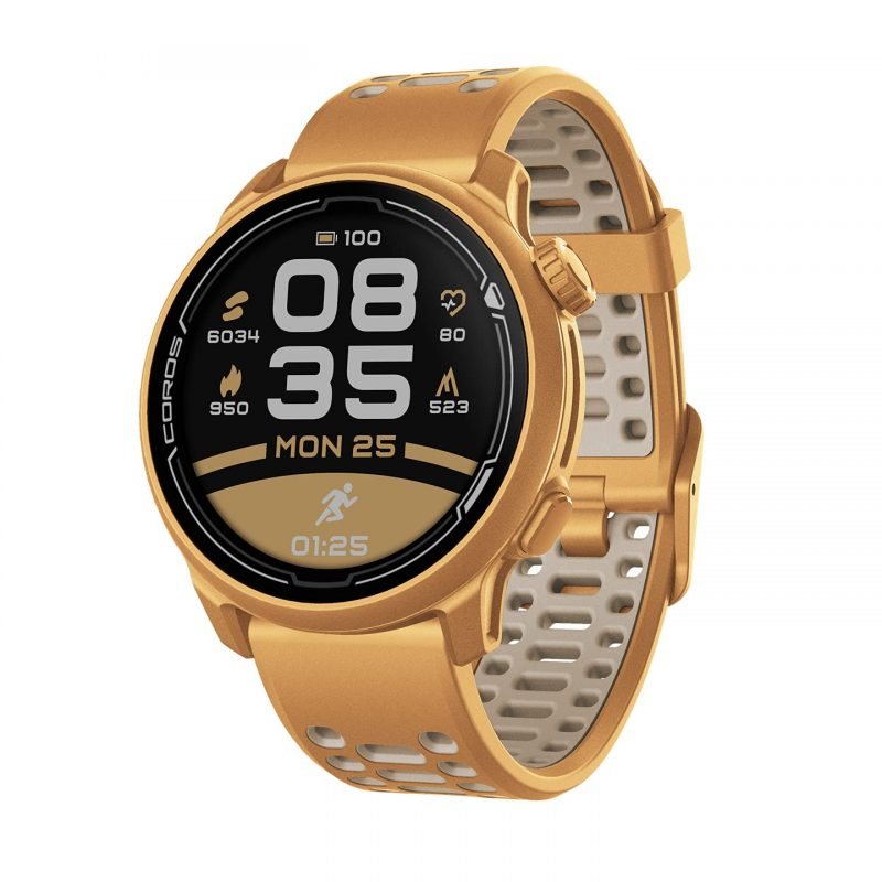Coros PACE 2 Speed Series Premium GPS Sport Watch Gold - Silicone Strap WPACE2-GLD