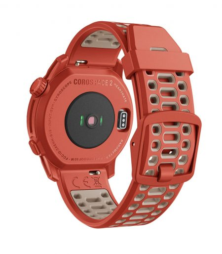 Coros PACE 2 Speed Series Premium GPS Sport Watch Red - Silicone Strap WPACE2-RED